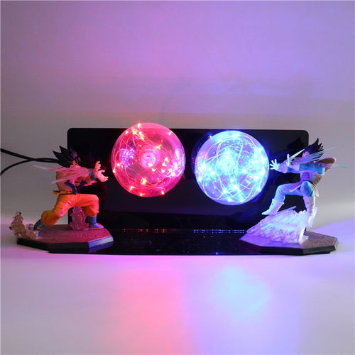 GoKu VS Vegeta Action Figures Desk Lamp