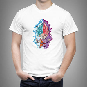 Chibi Goku Blue & Black Goku Rose T-shirt