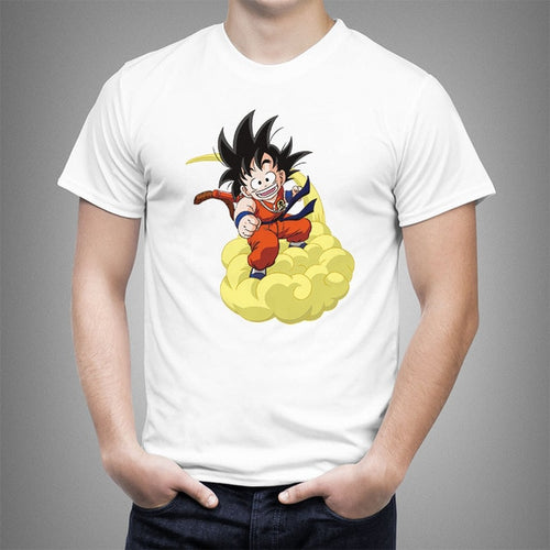 DBZ Kid Goku flying cloud T-Shirt