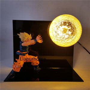 Son Goku Kamehameha Table Lamp Decorative -3
