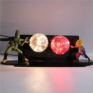 Gohan VS Cell Action Figures Lamp LED Night Light -4