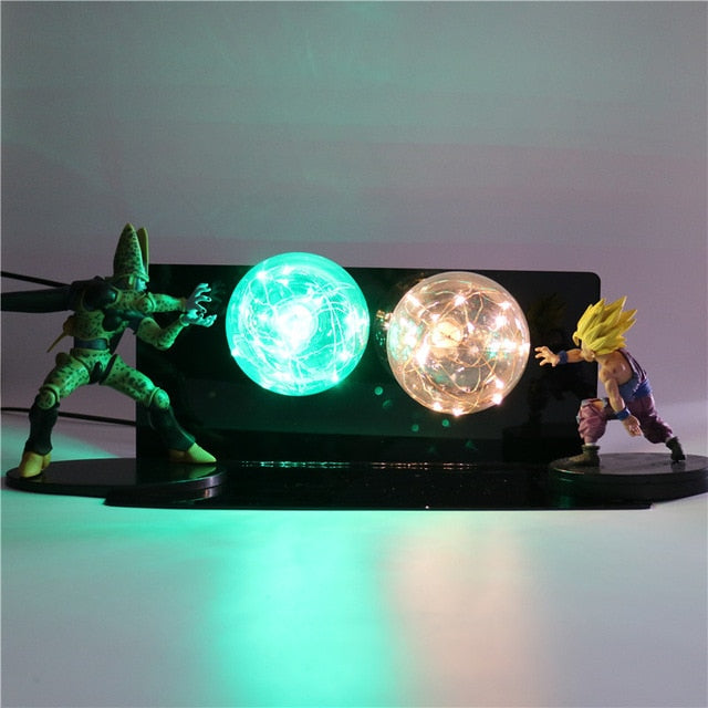 Gohan VS Cell Action Figures Lamp LED Night Light -1