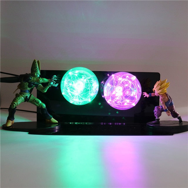 Gohan VS Cell Action Figures Lamp LED Night Light -6