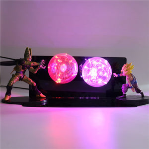 Gohan VS Cell Action Figures Lamp LED Night Light -3