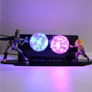 Gohan VS Cell Action Figures Lamp LED Night Light -7