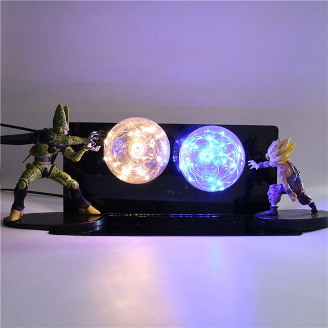Gohan VS Cell Action Figures Lamp LED Night Light -2
