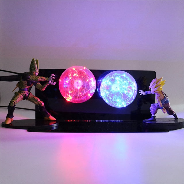 Gohan VS Cell Action Figures Lamp LED Night Light -5