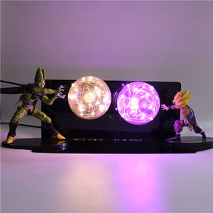 Gohan VS Cell Action Figures Lamp LED Night Light