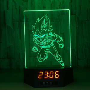 Vegeta 3D Lamp Figures Perpetual Calendar Time Night Light Colorful