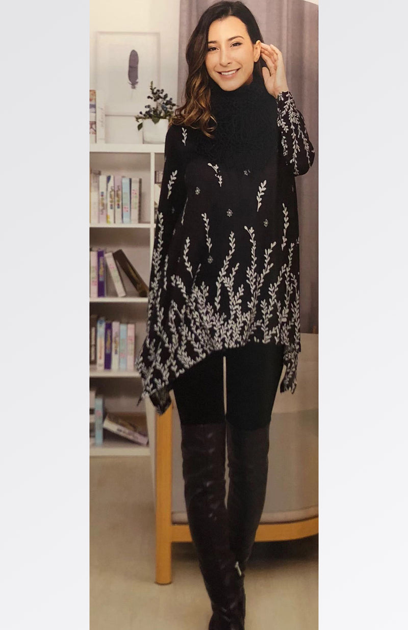 Printed Tunic with Scarf
