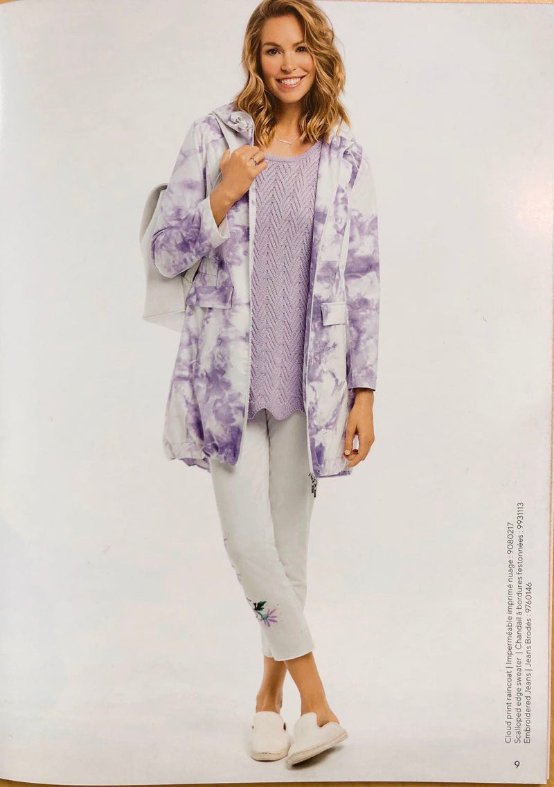 Tie Dye Water Resistant Coat 0217 New Arrival