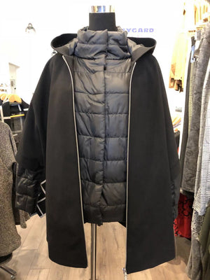 black 3 in 1 Coat