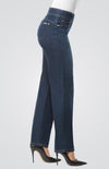 Denim Straight Leg Pant with 360 Degree 4-Way Stretch Fabric