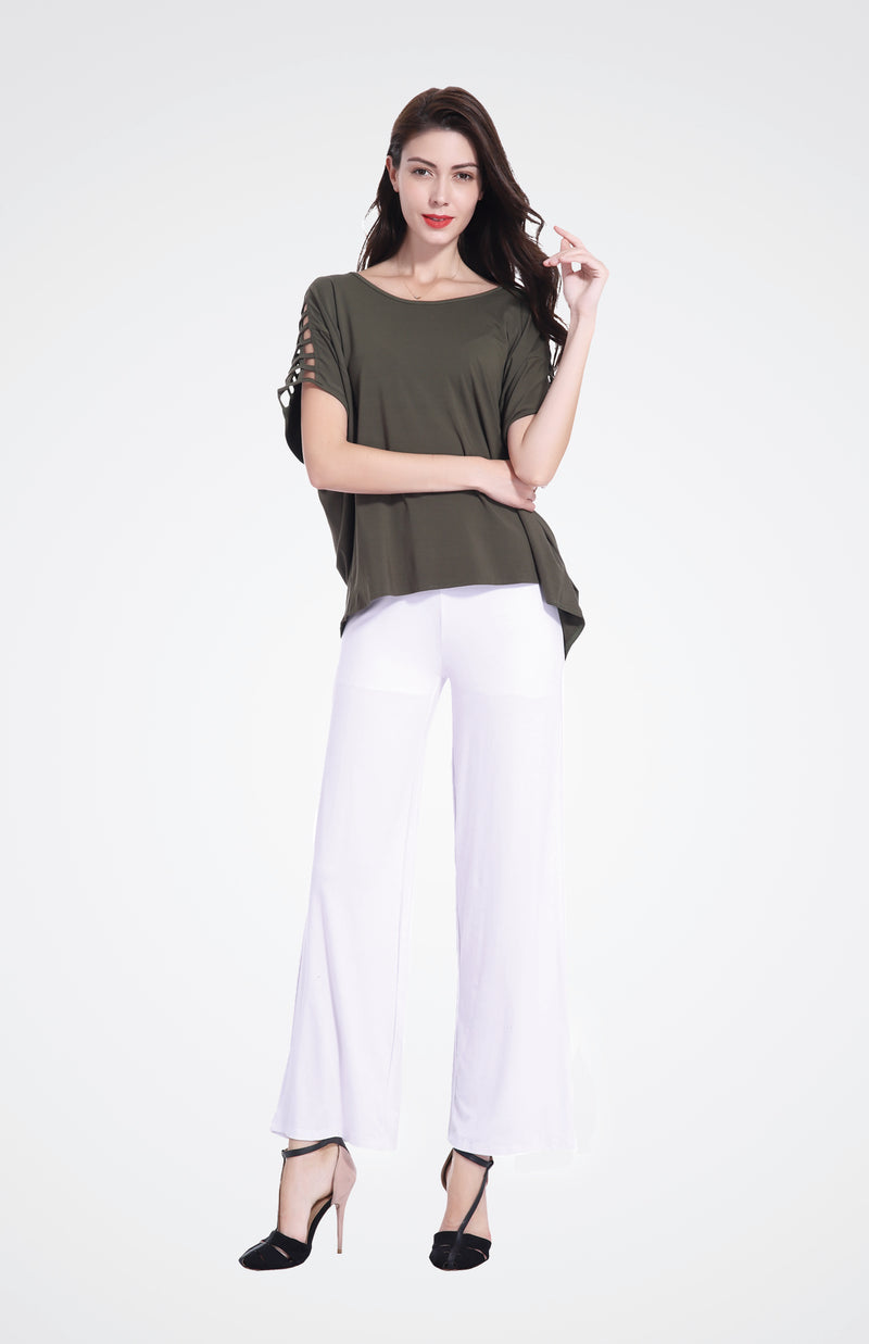 Cut-Out Shoulder Top in Bamboo Fabric  Now 40% OFF