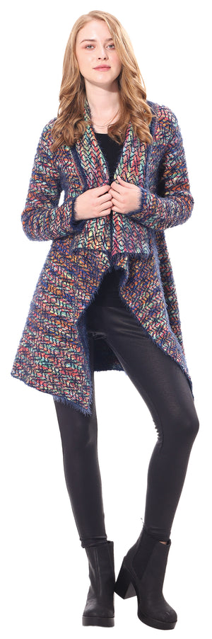 Ladies' Multi Color Long Coat