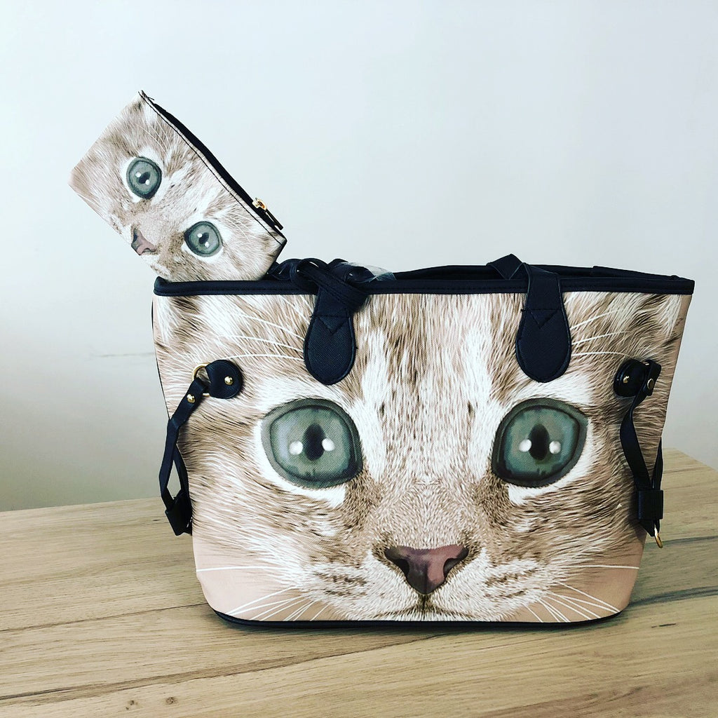 Cute Cat Bag with Little Purse