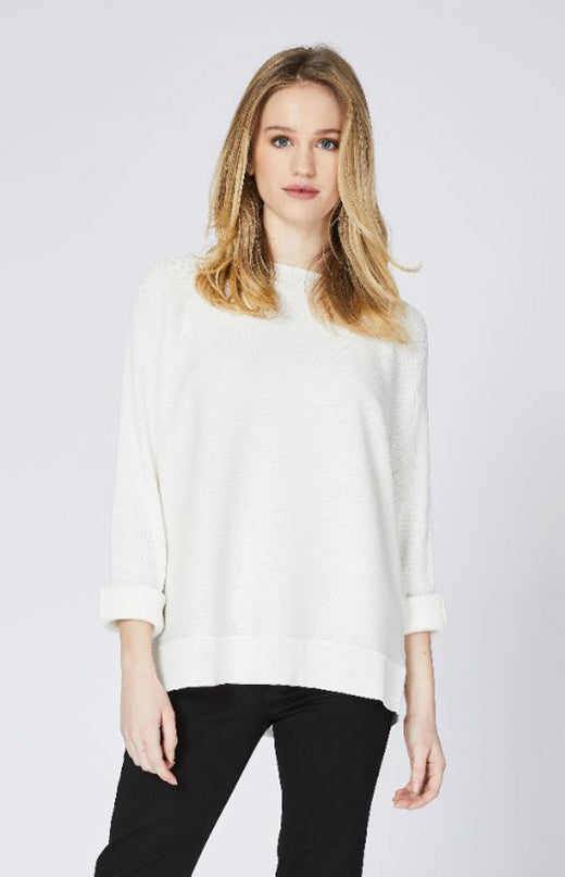 Boxy Pullover Pure White Now 30% Off