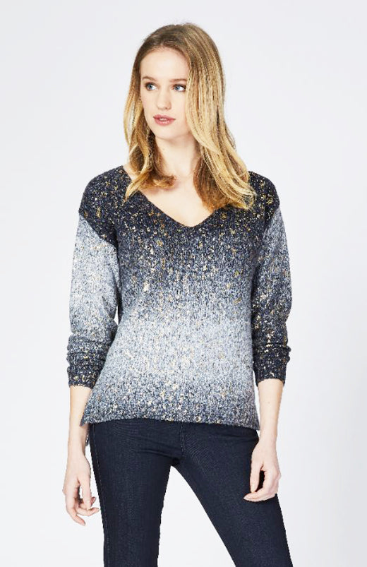 Melody Foil Print Pullover Now 30% Off