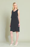 black front Double layer A-line Dress