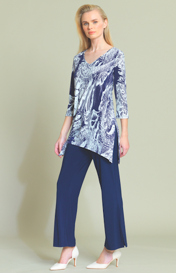 Ocean Wave Print Tunic T103P24 New Arrival