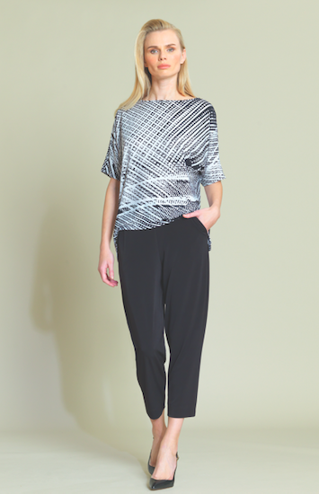 Tread Print Top with 1/2 Sleeves