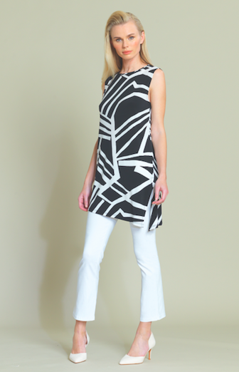 Print Tunic Tank with Side Slit