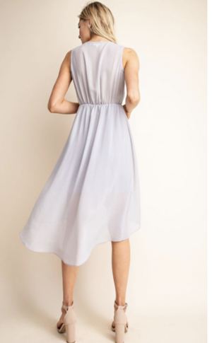 Chiffon High-Low Sleeveless Dress