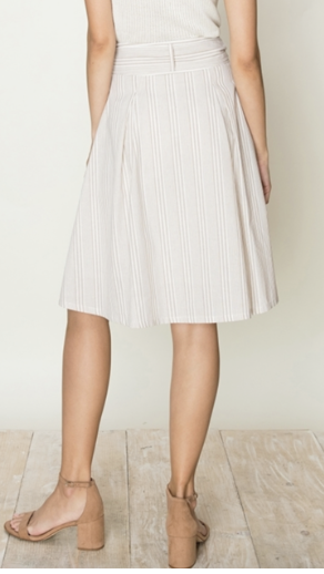 Stripe Knee Length Skirt