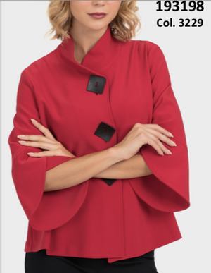Ladies' Red Jacket with square buttons