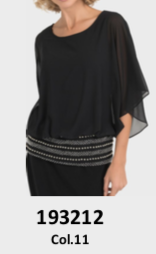 Ladies Loose Fitted Top with Sequined Hem