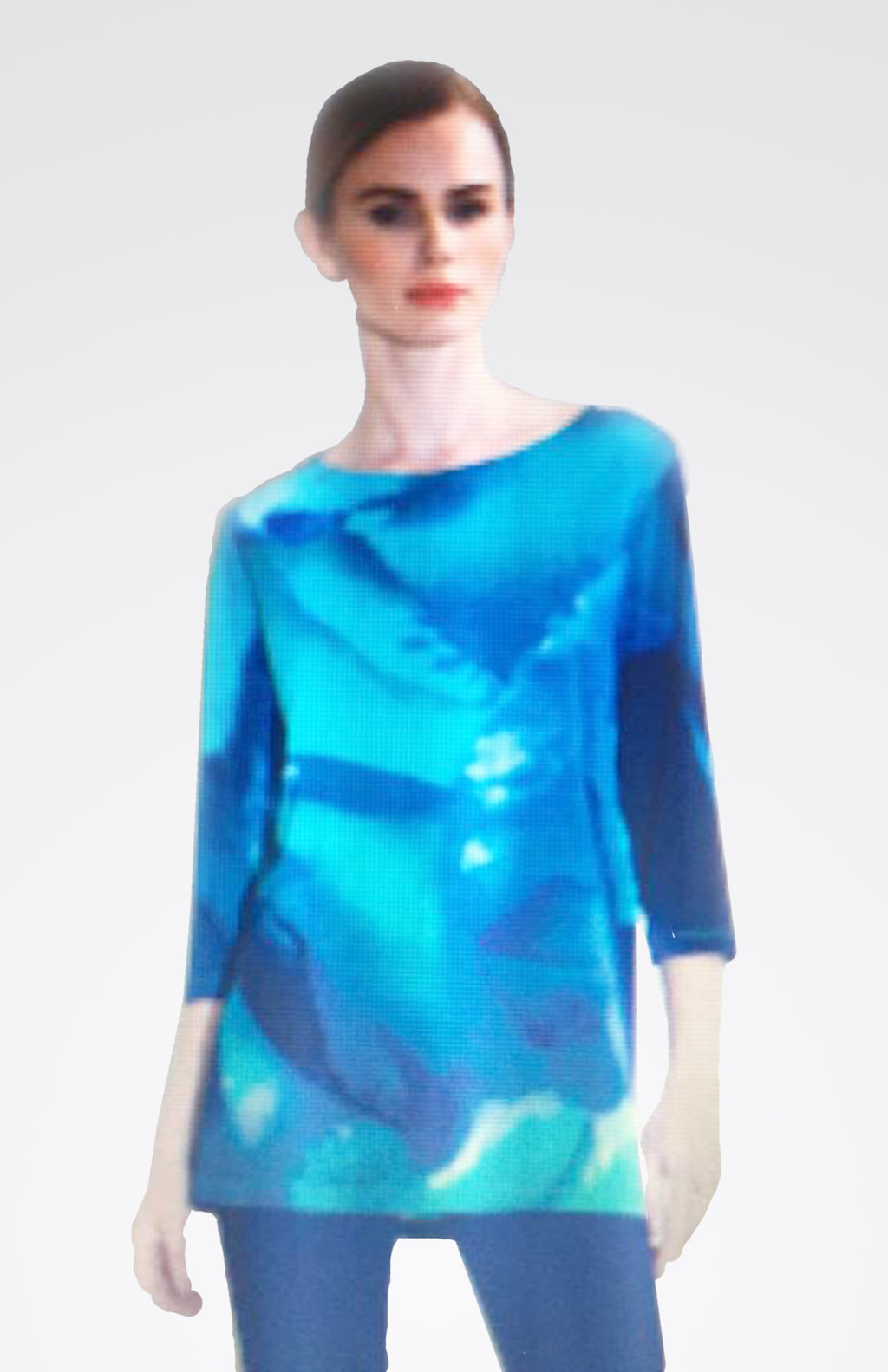 Water Color 3/4 Sleeve Top Now 30% OFF