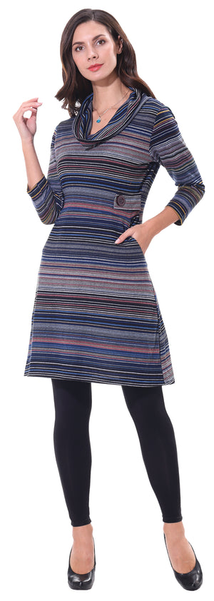 Multicolor Sweater Dress
