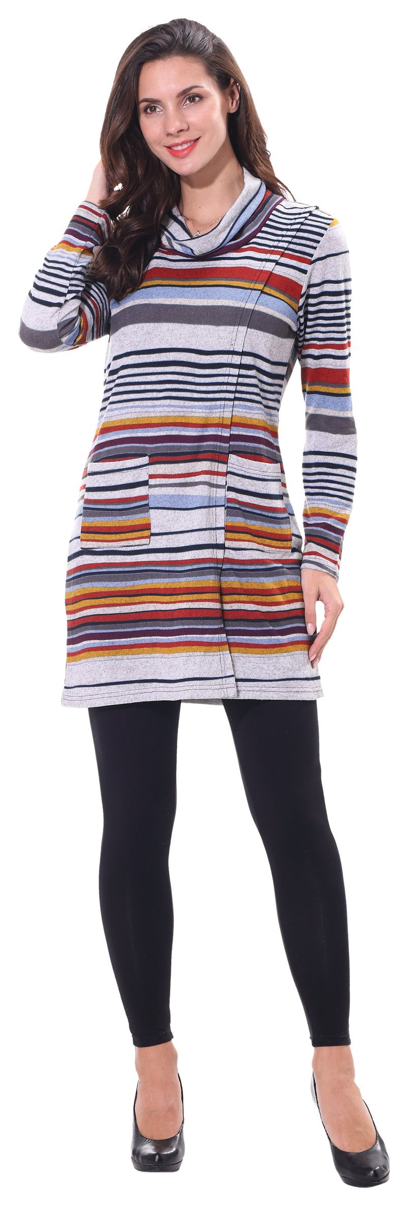 Ladies' Stripe Sweater Dress