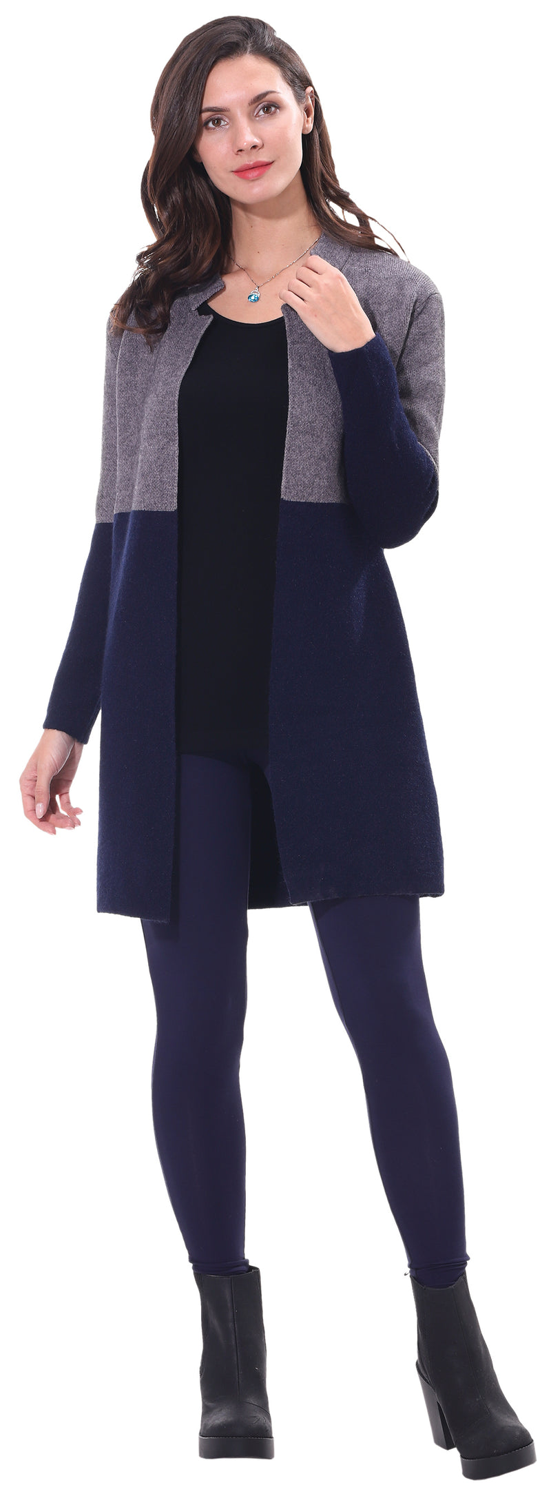 Navy Dual Color Coat
