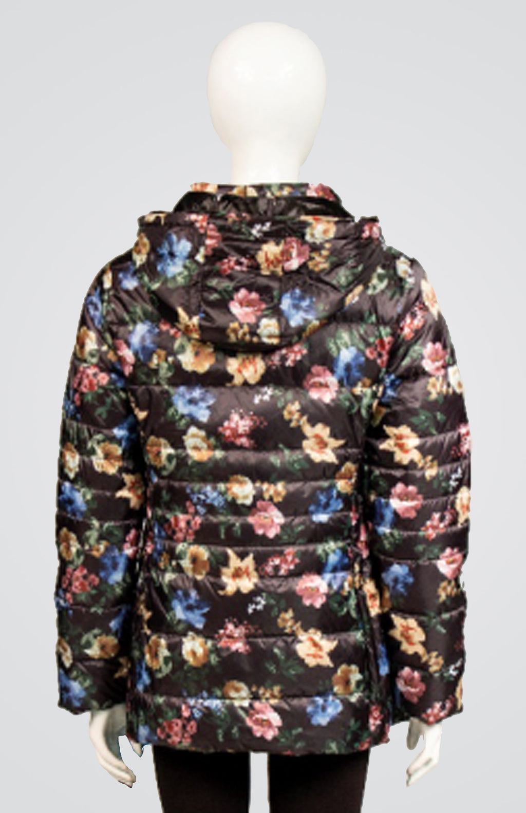 Printed Down Coat with Detachable Hood and Carrying Pouch New Arrival