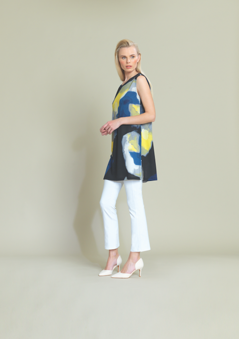 Watercolor Tunic with Side Slits