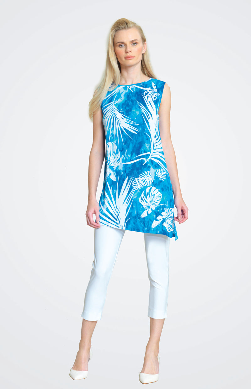 Print Tunic Tank with Side Slit TKU2P5 New Arrival