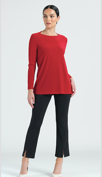 red Knit Tunic with cut-out back detail