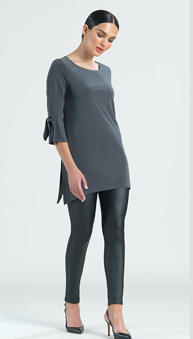 charcoal Tunic with Cuff-Ties