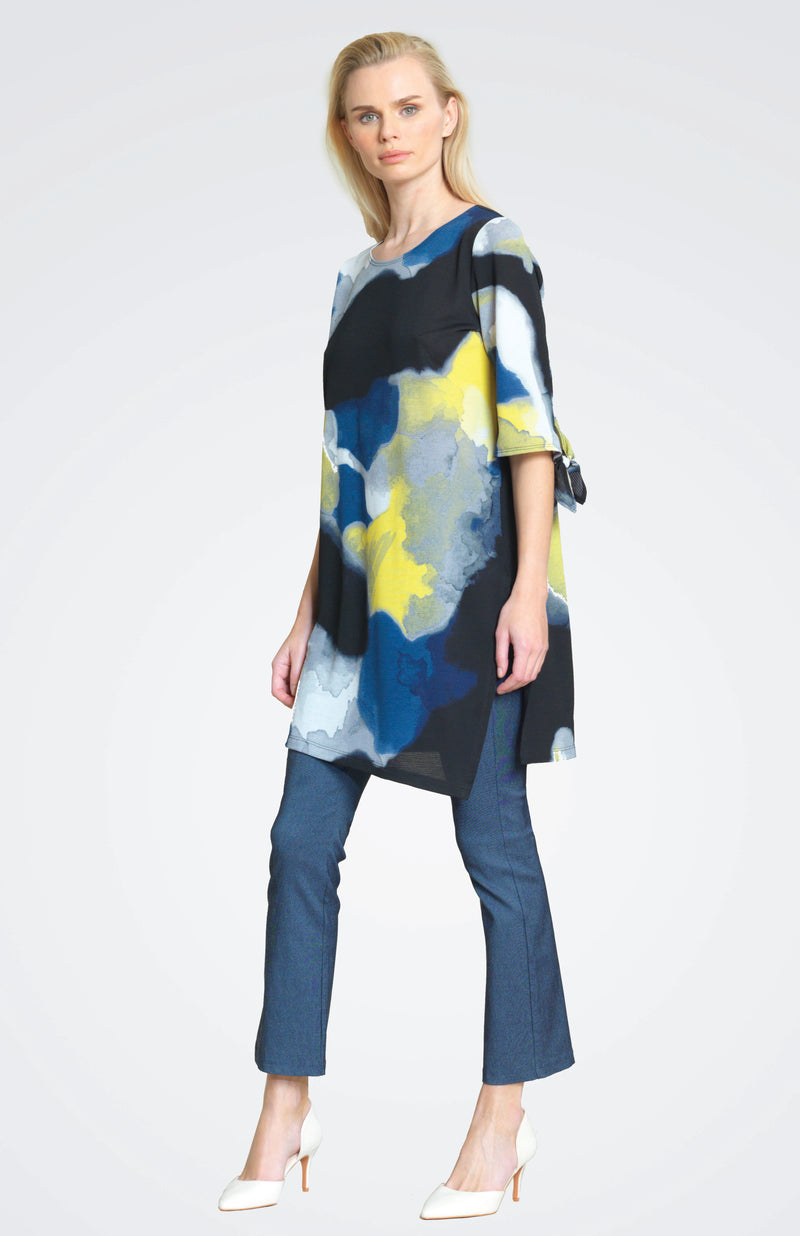 Watercolor Crepe Tunic