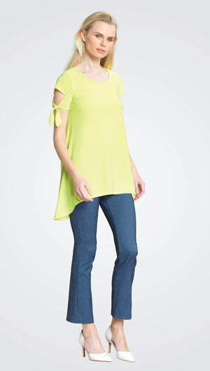 Lime Scoop neck tunic