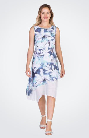 Two Layered Printed Dress  Now 40% Off