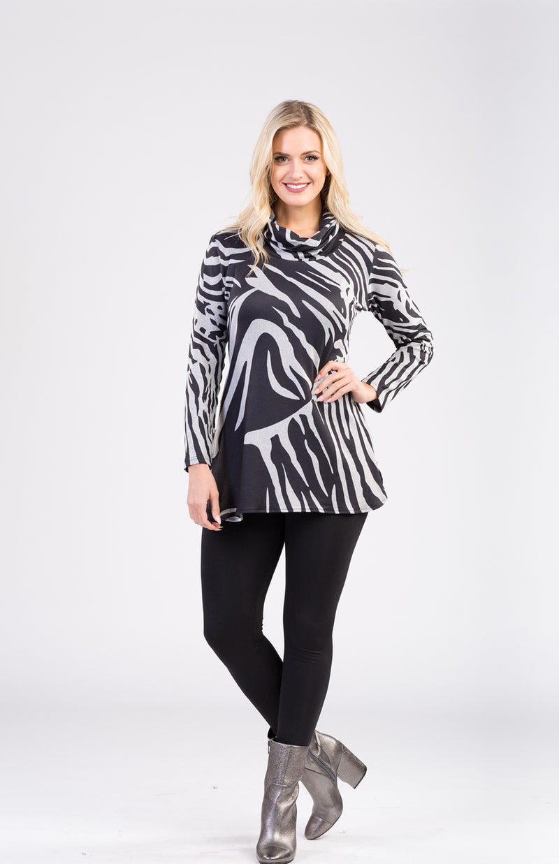 Printed Tunic With Side Zipper