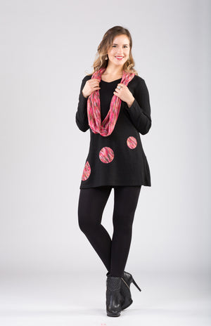 Patch Work Tunic With Scarf