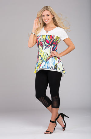 Printed Tunic with Buckle