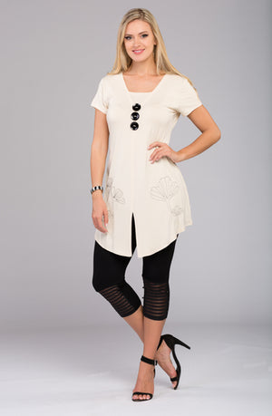 Three Button Tunic V8658 New Arrival