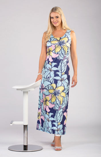 Long Sun Dress V8720 New Arrival