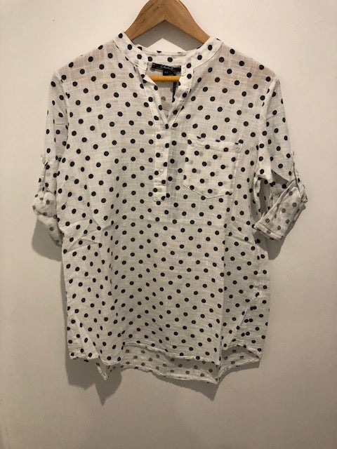 100% Cotton Printed Woven Blouse