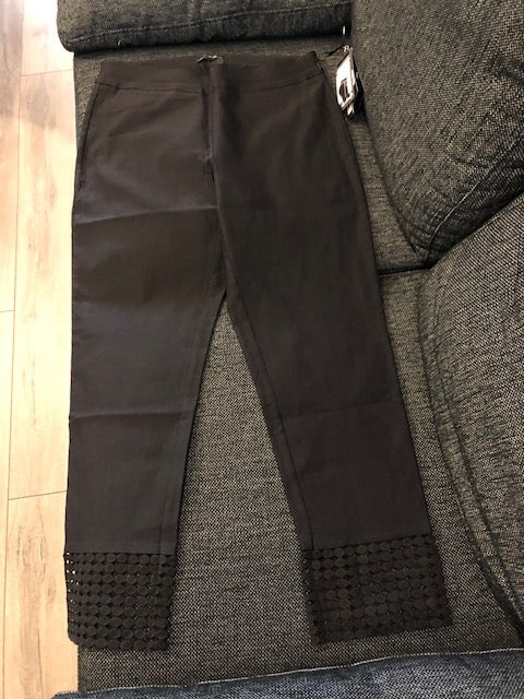 black Pant with Detailed Bottom Trim