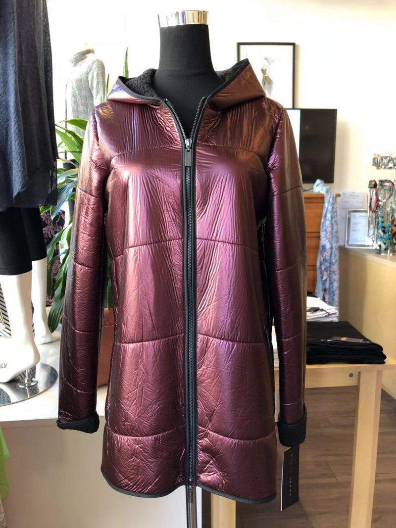 Ladies' Metallic Coat with fleece lining